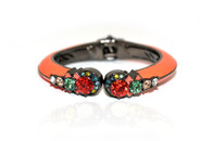 ENAMEL CRYSTAL BANGLE (Orange)