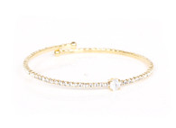 Crystal Bangle (Golden)