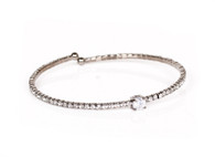 Crystal Bangle (Gunmetal)