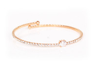 Crystal Bangle (Rose gold)