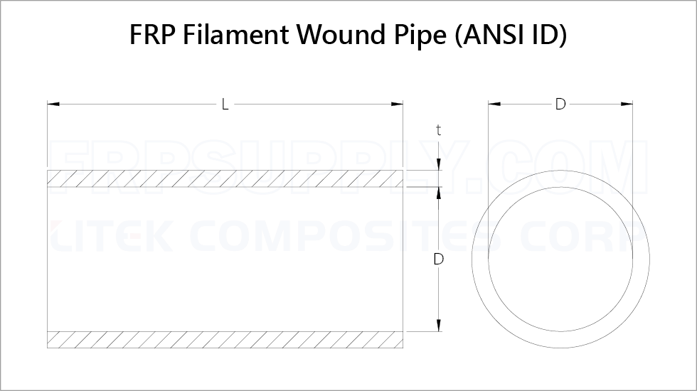 FRP Filament Wound Pipe
