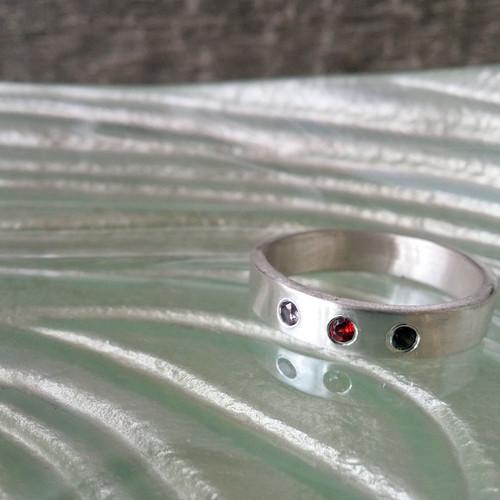 Brushed Finish Family Ring