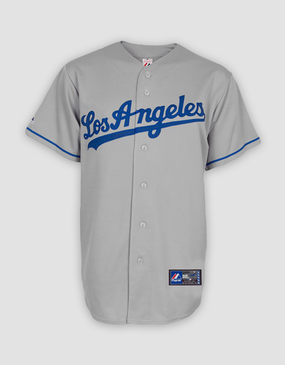 MLB LA Dodgers Mens Replica Road Jersey