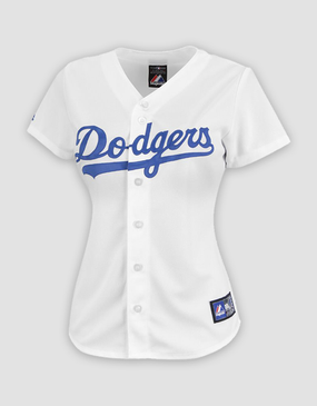 MLB LA Dodgers Ladies Replica Home Jersey