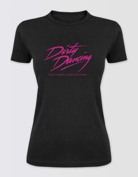 Dirty Dancing Ladies Black Glitter Logo Tee