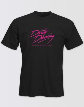 Dirty Dancing Unisex Black Glitter Logo Tee