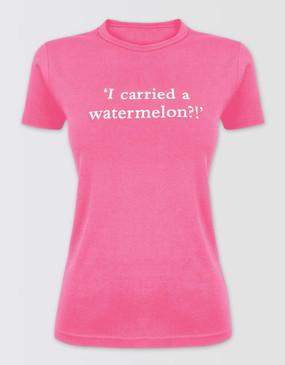 Dirty Dancing Ladies Pink Watermelon Tee