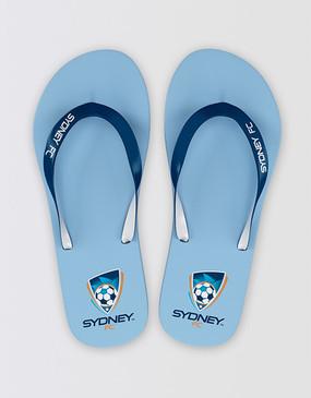 Sydney FC Team Thongs - CLEARANCE