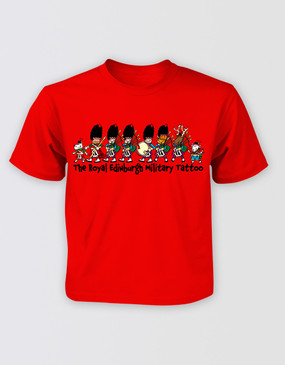 The Royal Edinburgh Military Tattoo Kids Red Tee
