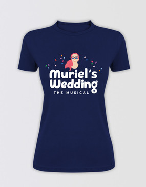 Muriel's Wedding Fitted Logo T-Shirt