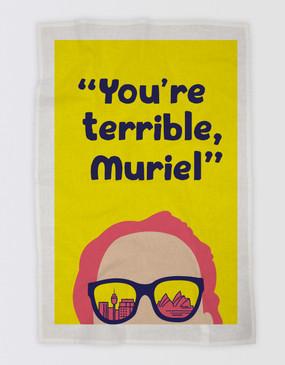 Muriel's Wedding Tea Towel