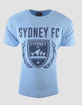 Sydney FC Adults Sky Blue Logo Tee