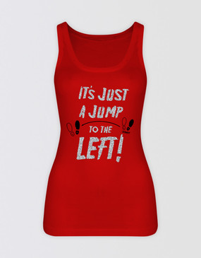Rocky Horror Show Fitted Red Singlet
