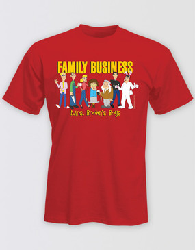 "Mrs Brown's Boys 2018 Unisex Red ""Family Business"" Shirt"