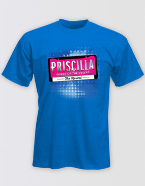 PRISCILLA Royal Blue Logo T-Shirt