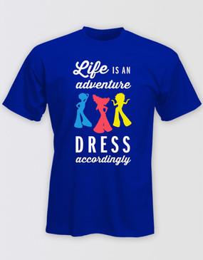 PRISCILLA Navy Adventure T-Shirt