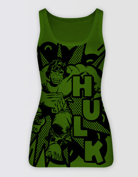 Marvel's Avengers - Ladies Hulk Singlet