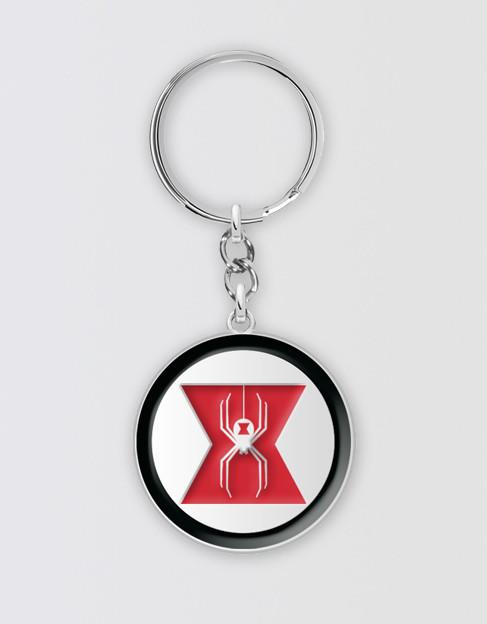 Marvels Avengers Black Widow Symbol Keyring Playbill Pty Ltd