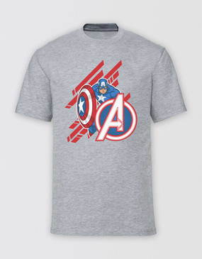 Marvel's Avengers - Adults Captain America Diagonal T-Shirt
