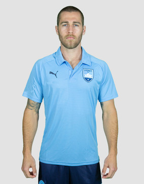 Sydney FC 18/19 Adults Club Polo Sky Blue