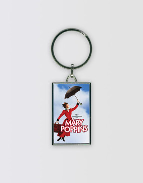Mary Poppins Metal Logo Keyring