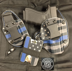 Off Duty Carry Concealment Kydex Hybrid Holster  - Thin Blue Line