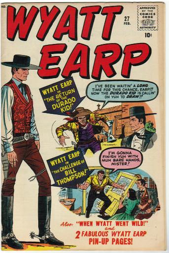Wyatt Earp #27 VF/NM Front Cover