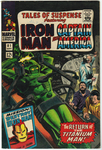 Tales of Suspense #81 VF Front Cover