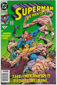 Superman Man of Steel #17 NM Front Cover