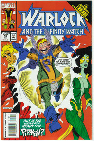 Warlock and the Infinity Watch #18 VF/NM Front Cover