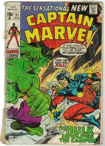 Captain Marvel #21 PR Front Cover