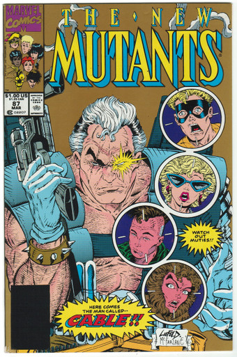 New Mutants #87 2nd Print VF Front Cover