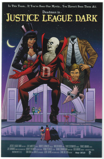 Justice League Dark #40 NM Movie Poster Variant Front Cover