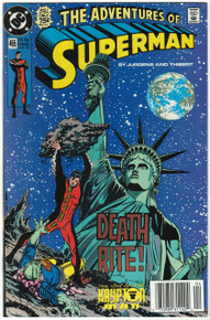 Adventures of Superman #465 VF/NM Front Cover