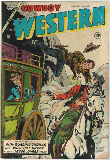 Cowboy Western #50 VG Front Cover