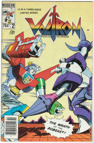 Voltron #2 VG Front Cover