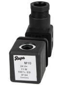 Solenoid Rapa M 10 24 V DC direct current