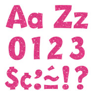 4IN READY LETTERS HOT PINK SPARKLE