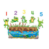 FIVE SPECKLED FROGS FLANNELBOARD