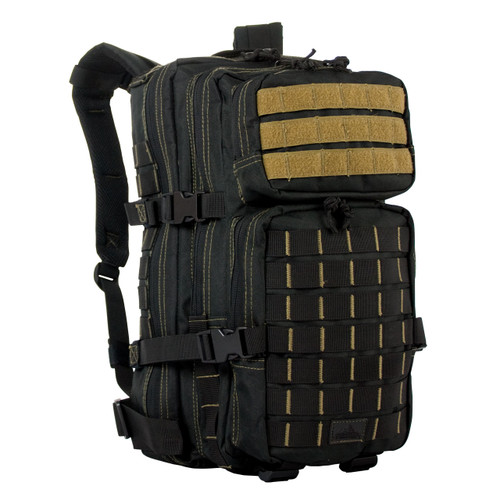Rebel Assault Pack - Black with Coyote Stitching & Webbing
