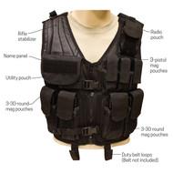 Tactical Assault Vest - Labeled