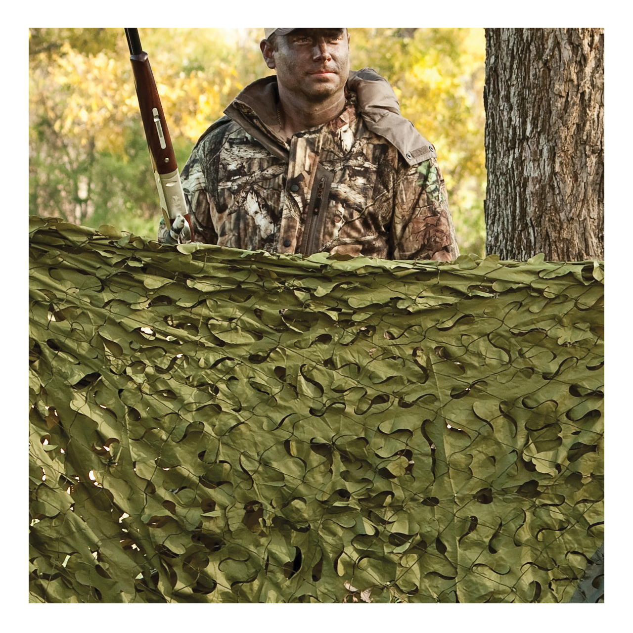 Hunting Camo Netting Deer Stand Coverage Red Rock