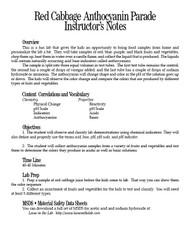 Red Cabbage Anthocyanin Parade PDF