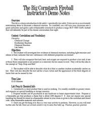 Cornstarch Fireball PDF