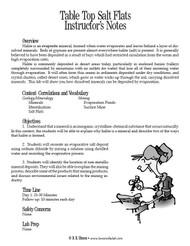 Table Top Salt Flats PDF