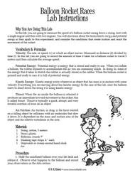 Balloon Rocket Races PDF
