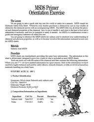 MSDS Primer PDF