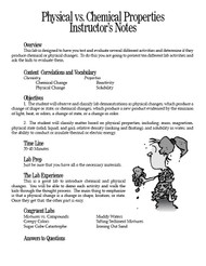 Physical vs. Chemical Properties PDF