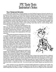 PTC Taste Tests PDF