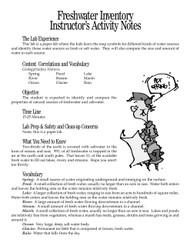 Freshwater Inventory PDF